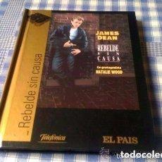 Cine: JAMES DEAN REBELDE SIN CAUSA (1955) PELÍCULA EN DVD + LIBRO - CINE DE DRAMA ROMANCE EL PAÍS. Lote 94090145