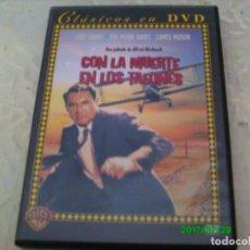 Cine: CON LA MUERTE EN LOS TALONES -- ALFRED HITCHCOCK -- DVD. Lote 94454122