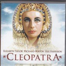 Cine: DVD CLEOPATRA. ELIZABETH TAYLOR. RICHARD BURTON. EDICIÓN ESPECIAL 2 DISCOS 239 MINUTOS (BUEN ESTADO). Lote 94698363