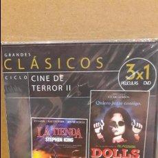 Cine: 3X1 / DOLLS / LA TIENDA / LA SERPIENTE VOLADORA / DVD - PRECINTADO.. Lote 94723195