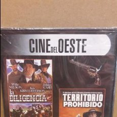 Cine: 3X1 / LA DILIGENCIA 2 / TERRITORIO PROHIBIDO / EL REBELDE ORGULLOSO / DVD - PRECINTADO.. Lote 94723483