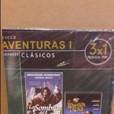 Cine: 3X1 / LA SOMBRA DEL LOBO / MR. ROBINSON CRUSOE / BUFFALO BILL EN TERRITORIO TOMAHAWK - PRECINTADO.. Lote 94723603