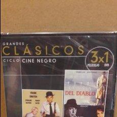 Cine: 3X1 / LA BURLA DEL DIABLO / REPENTINAMENTE / SANGRE SOBRE EL SOL / DVD PRECINTADO.. Lote 94723751