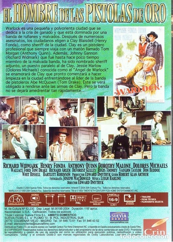 Cine: DVD EL HOMBRE DE LAS PISTOLAS DE ORO HENRY FONDA - Foto 2 - 95537223