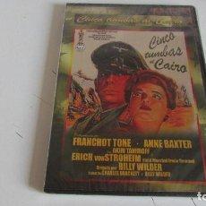 Cine: DVD CINCO TUMBAS AL CAIRO. Lote 95562267