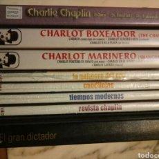 Cine: LOTE 8 DVD CHARLES CHAPLIN . 5 PRECINTADAS. Lote 95705298