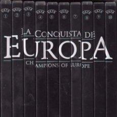 Cine: LA CONQUISTA DE EUROPA COLECCION MARCA DE 10 DVS´S / 1996 UEFA - RF-738 . BUEN ESTADO. Lote 95939251
