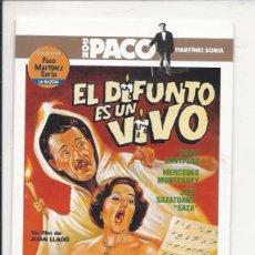 Cine: COLECCIÓN PACO MARTÍNEZ SORIA - EL DIFUNTO ES UN VIVO - (LA RAZÓN). Lote 95967127