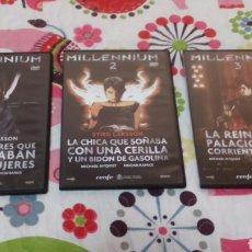 Cine: DVD. TRILOGÍA MILLENIUM. . Lote 96107934