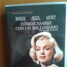 Cine: PELICULA CINE DVD MARILYN MONROE COMO CASARSE CON UN MILLONARIO. Lote 39791744
