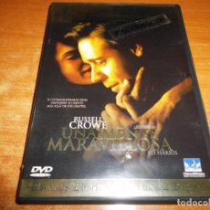 Cine: UNA MENTE MARAVILLOSA DOBLE DVD 2002 ESPAÑA RUSSELL CROWE JENNIFER CONNELLY PAUL BETTANY 2 DVD. Lote 96444047