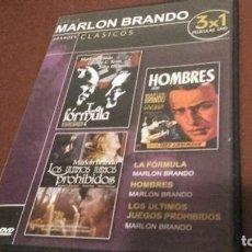 Cine: TRES PELÍCULAS DE MARLON BRANDO. Lote 96343087