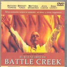 Cine: EL BALNEARIO DE BATTLE CREEK DVD; UNA DE LAS COMEDIAS MAS LOCAS E HILARANTES QUE PUEDAS TENER. Lote 96637123
