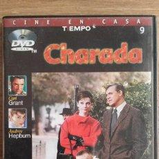 Cine: CHARADA DVD - CARI GRANT - AUDREY HEPBURN. Lote 96929435