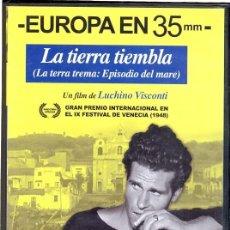 Cine: LA TIERRA TIEMBLA DVD (LUCHINO VISCONTI) - UN CLÁSICO QUE NO PUEDES NO-TENERLO...(+LIBRETO). Lote 97082731