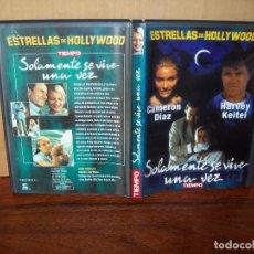 Cine: SOLAMENTE SE VIVE UNA VEZ - CAMERON DIAZ - HARVEY KEITEL - DE JIM WILSON - DVD PERIODICO. Lote 259999735