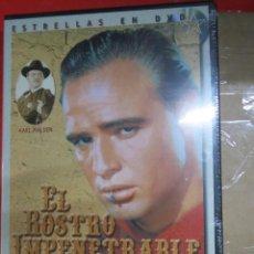 Cine: DVD EL ROSTRO IMPENETRABLE,MARLON BRANDO PRECINTADO.. Lote 97719127