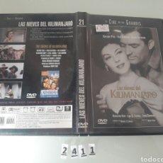 Cine: LAS NIEVES DEL KILIMANJARO DVD . Lote 97974752