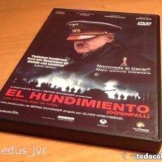 Cine: EL HUNDIMIENTO DOWNFALL 2004 CINE DE DRAMA BÉLICO NAZISMO EN DVD CON PROBLEMA. Lote 117736284