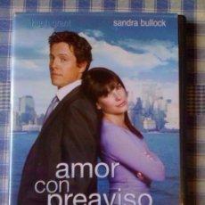 Cine: AMOR CON PREAVISO PELÍCULA EN DVD - COMEDIA ROMÁNTICA. Lote 98084499