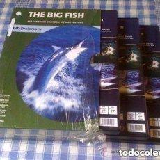 Cine: THE BIG FISH - PAQUETE DE 3 DVDS DOCUMENTAL SOBRE PESCA EN CASTELLANO COMO NUEVOS. Lote 98084503