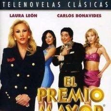 Cine: EL PREMIO MAYOR TELENOVELA - LAURA LEON, CARLOS BONAVIDES 4 DVD'S NUEVOS. Lote 98516955