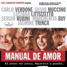 Cine: MANUAL DE AMOR - CARLO VERDONE,SILVIO MUCCINO,LUCIANA LITTIZZETTO DVD NUEVO. Lote 98517051
