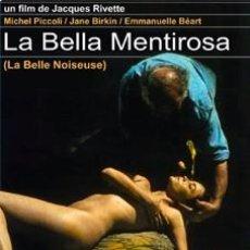 Cine: LA BELLA MENTIROSA - MICHEL PICCOLI, EMMANUELLE BÉART DVD NUEVO. Lote 98517095