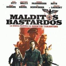 Cine: DVD MALDITOS BASTARDOS BRAD PITT. Lote 98816531