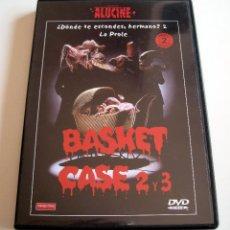 Cine: BASKET CASE 2 Y 3 (DONDE TE ESCONDES HERMANO 2 Y 3) • DVD DESCATALOGADO (COMO NUEVO). Lote 59228430