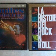 Cine: DVD - HISTORIA DEL ROCK + GRANDES DEL JAZZ. Lote 99178679