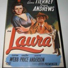 Cine: LAURA - OTTO PREMINGER - GENE TIERNEY Y DANA ANDREWS - DVD. Lote 99453059