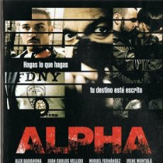 Cine: DVD ALPHA JUAN CARLOS VELLIDO . Lote 99649255
