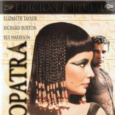 Cine: DVD CLEOPATRA ELIZABETH TAYLOR ( EDICIÓN ESPECIAL 3 DVD). Lote 100161511