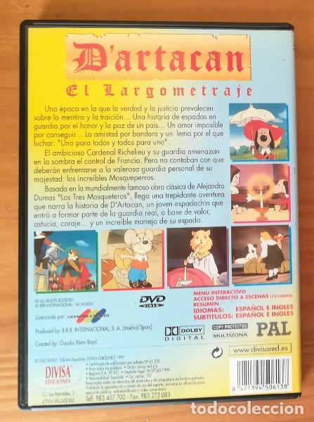 Cine: D'ARTACAN Y LOS TRES MOSQUEPERROS, EL LARGOMETRAJE -DVD- DARTACAN MOSQUETEROS DARTAGNAN ARTACAN... - Foto 2 - 100361807