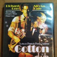 Cine: DVD COTTON CLUB DE FRANCIS FORD COPPOLA, CON RICHARD GERE, NICOLÁS CAGE, BOB HOSKINS, DIANE LANE.. Lote 101161423