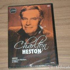 Cine: CHARLTON HESTON EL MITO DVD MITOS DE HOLLYWOOD NUEVA PRECINTADA. Lote 235173640