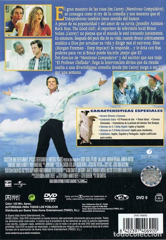 Cine: DVD COMO DIOS JIM CARREY - Foto 2 - 160803310