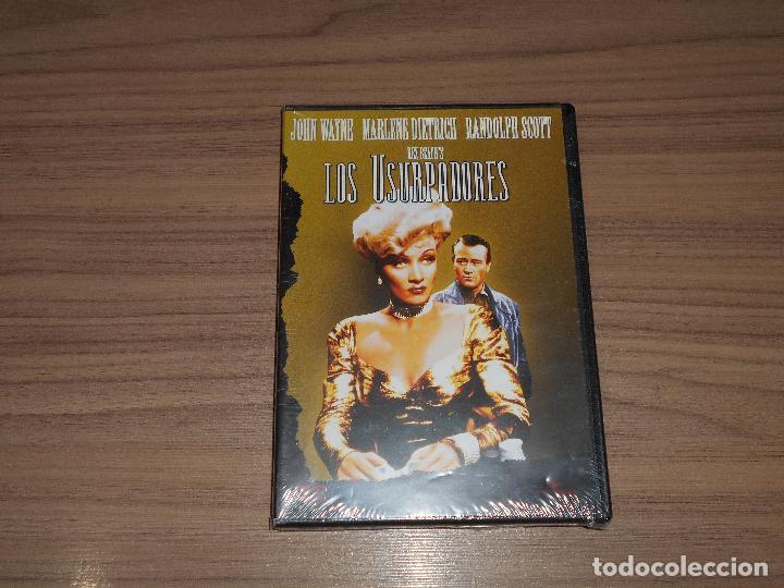 LOS USURPADORES DVD MARLENE DIETRICH JOHN WAYNE RANDOLPH SCOTT NUEVA PRECINTADA (Cine - Películas - DVD)