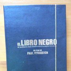 Cine: DVD EL LIBRO NEGRO - PAUL VERHOEVEN - LEER DESCRIPCION (5E). Lote 102218731