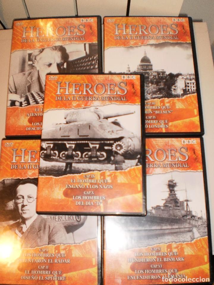 DVD 5 DISCOS HÉROES DE LA II GUERRA MUNDIAL. BBC (LEER) BUEN ESTADO. (Cine - Películas - DVD)