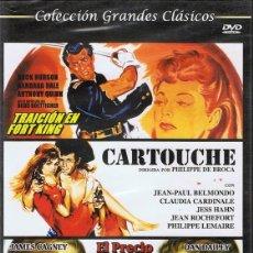 Cine: DVD TRAICIÓN EL FORT KING /CARTOUCHE / EL PRECIO DE LA GLORIA (PRECINTADO). Lote 102691347