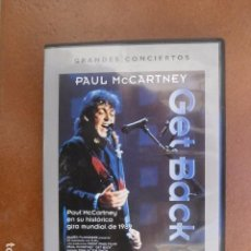 Cine: DVD, GRANDES CONCIERTOS, PAUL MCCARTNEY, GET BACK.. Lote 102709619