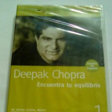 Cine: DEEPAK CHOPRA. ENCUENTRA TU EQUILIBRIO. DVD NUEVO PRECINTADO. Lote 102721363