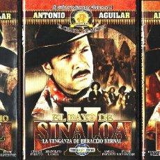 Cine: CINE GOYO - DVD - HERACLIO BERNAL - LA TRILOGIA - ANTONIO AGUILAR - FLOR SILVESTRE - - RARA- *AA98. Lote 103145927