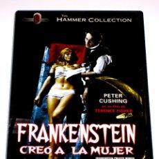 Cine: FRANKENSTEIN CREO A LA MUJER - HAMMER - TERENCE FISHER PETER CUSHING SUSAN DENBERG ROBERT DVD LEGAL. Lote 103164940