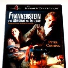 Cine: FRANKENSTEIN Y EL MONSTRUO DEL INFIERNO - HAMMER - TERENCE FISHER PETER CUSHING DVD DESCATALOGADA. Lote 103165203