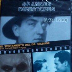 Cine: TESTAMENTO DEL DR. MABUSE. SOLO SE VIVE UNA VEZ. FRITZ LANG. DVD PRECINTADO, 2 PELÍCULAS. Lote 103200999
