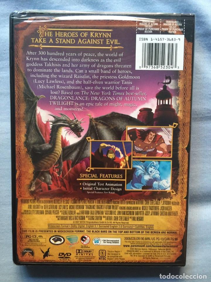 Cine: Película de animación en DVD de las Crónicas de la Dragonlance original USA. - Foto 2 - 103449087