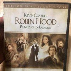 Cine: ROBIN HOOD PRÍNCIPE DE LOS LADRONES, KEVIN COSTNER-MORGAN FREEMAN, EDICIÓN ESPECIAL 2 DISCOS DESCATA. Lote 103984007